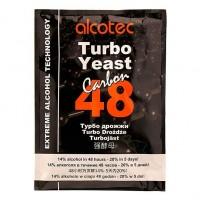Спиртові турбо Дріжджі Alcotec 48 Carbon з вугіллям (175 г)